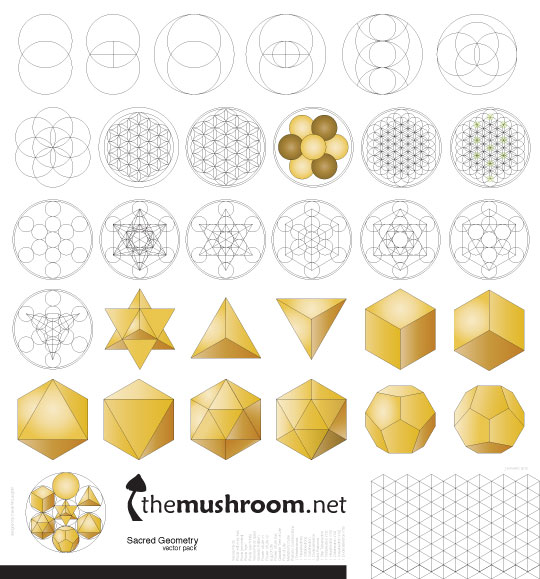 Free Sacred Geometry Vector Pack