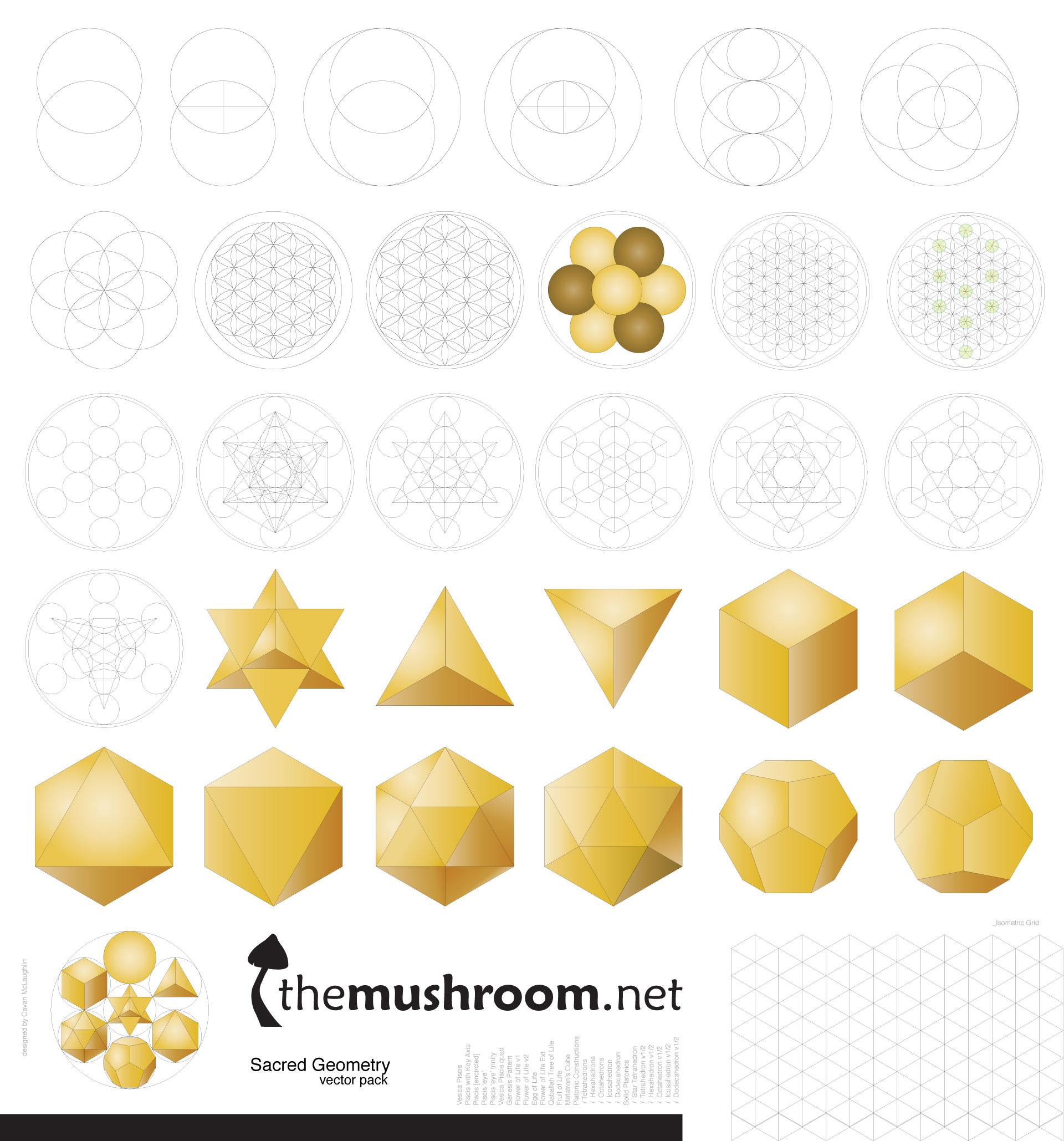 Free Sacred Geometry Vector Pack | The Mushroom [ themushroom net ]